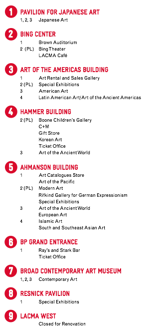 Los Angeles County Museum Of Art 5905 Wilshire Boulevard Los Angeles California 90036 323 857 6000 Printable Map Pdf 928kb