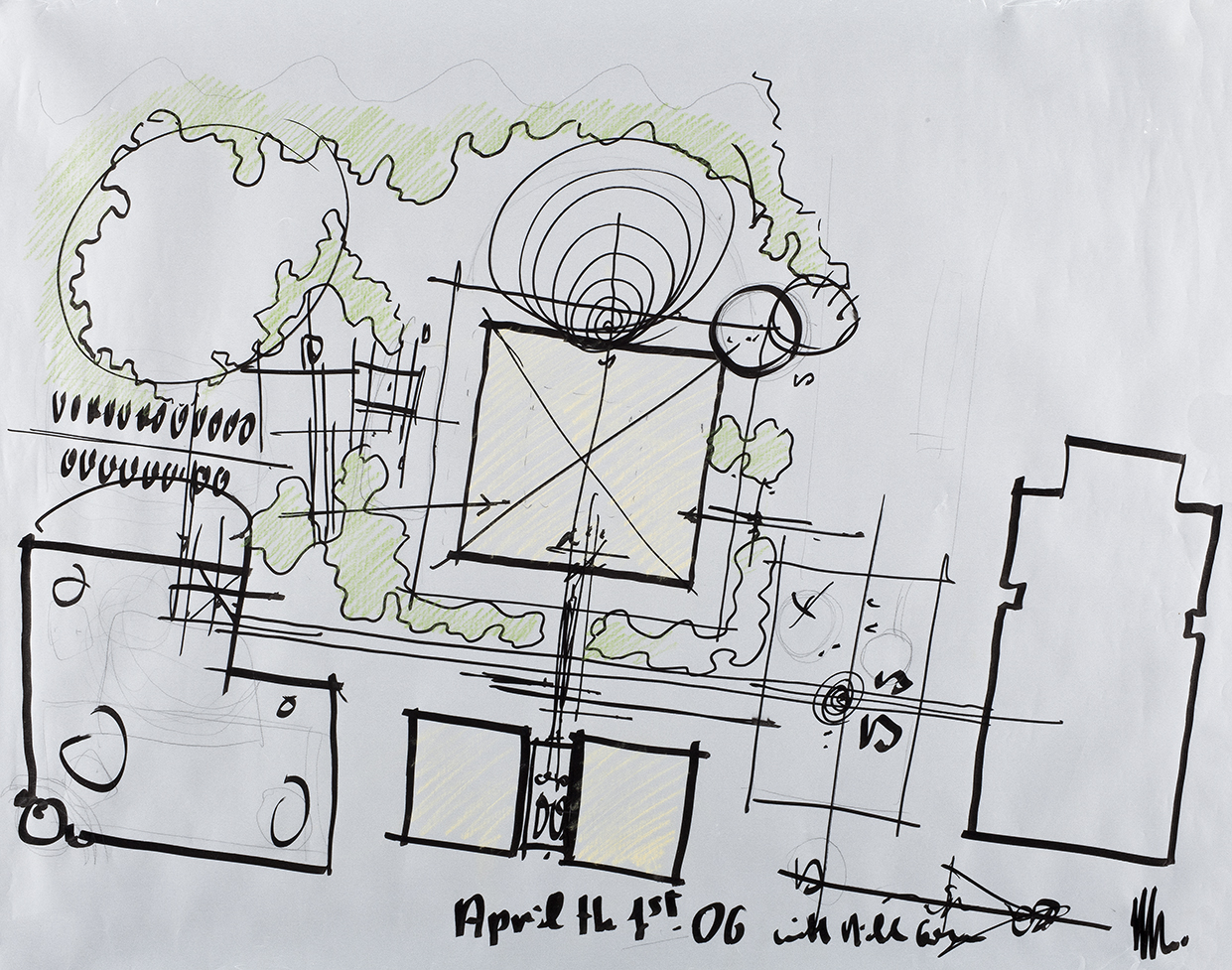 Drawing for Los Angeles County Museum of Art, 2006