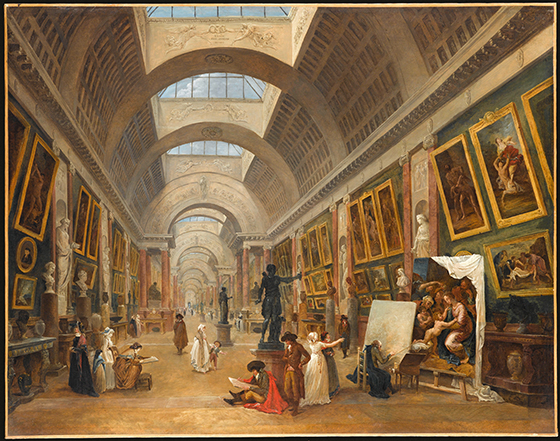 Hubert Robert, Project for the Transformation of the Grande Galerie, 1796.