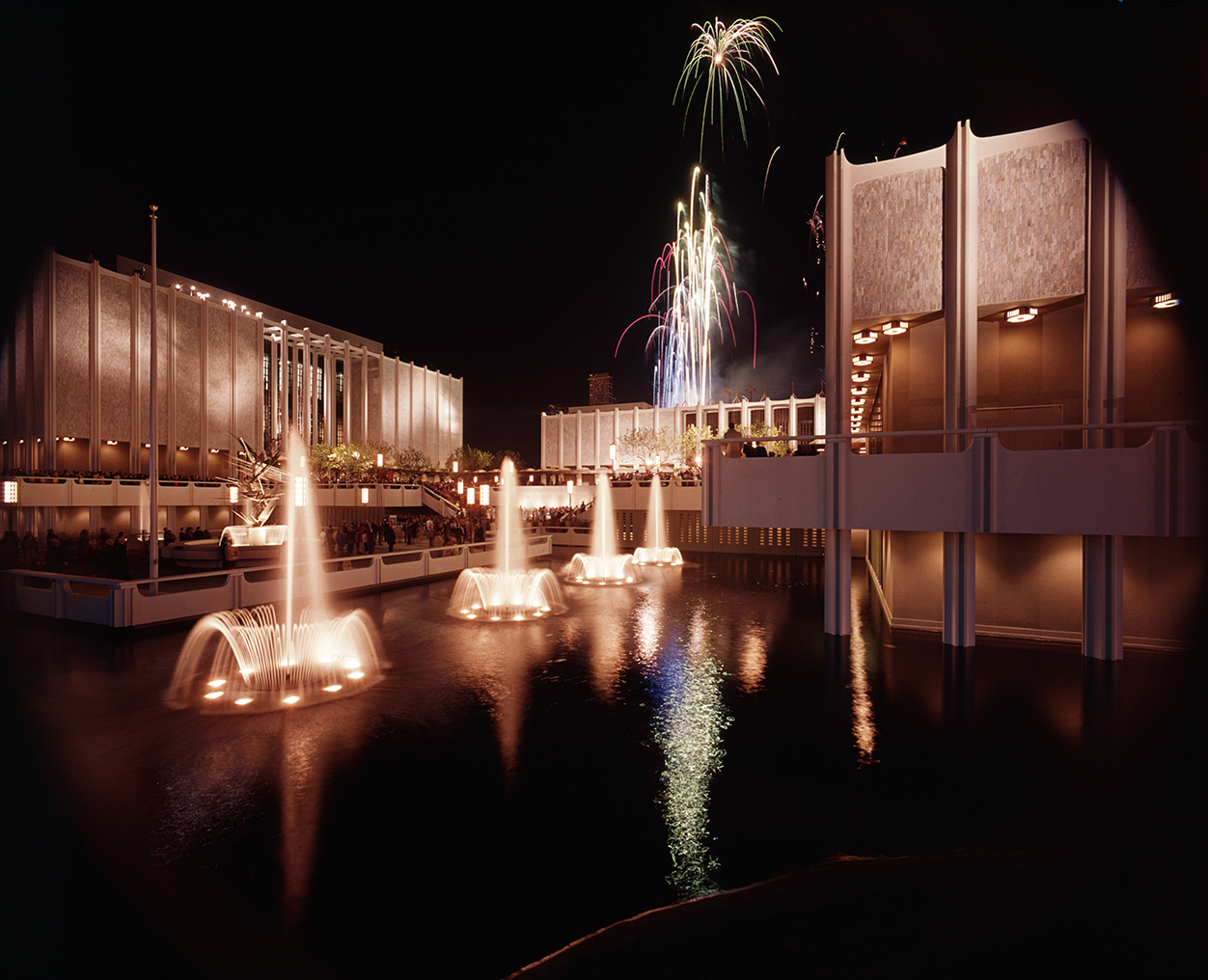 Opening of LACMA and Atrium, Ahmanson Gallery of Art, 1965