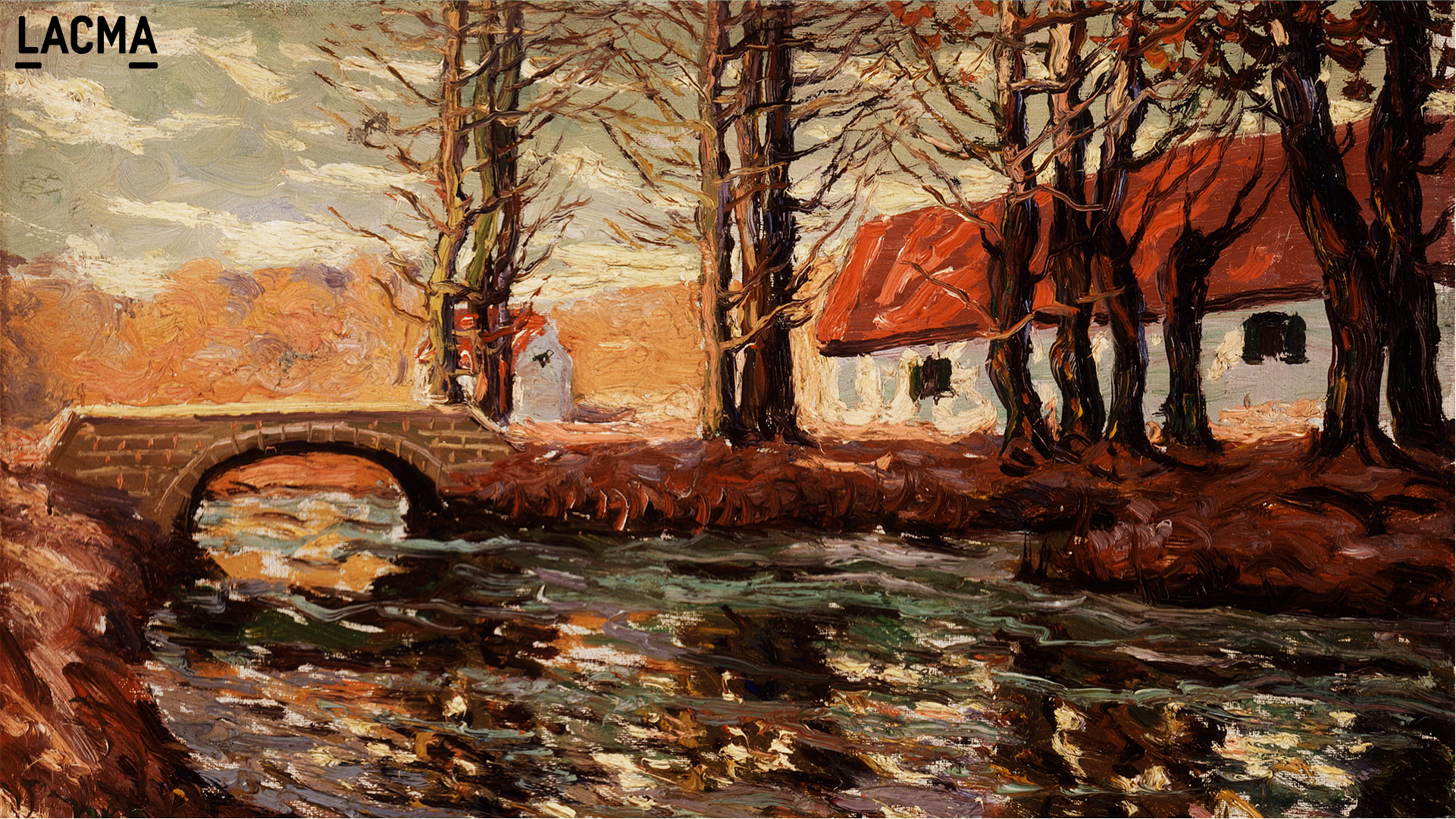 River Landscape by Ernest Lawson (Canada, Nova Scotia, Halifax, active United States, 1873-1939)