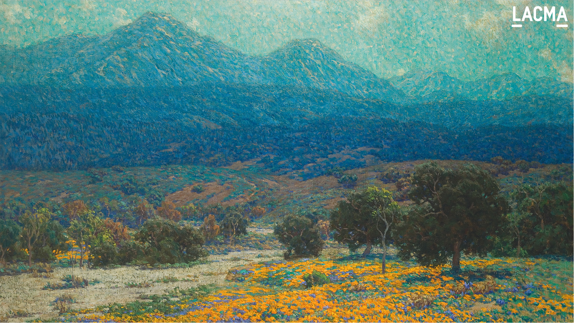 California Poppy Field by Granville Redmond (United States, Pennsylvania, Philadelphia, 1871-1935)
