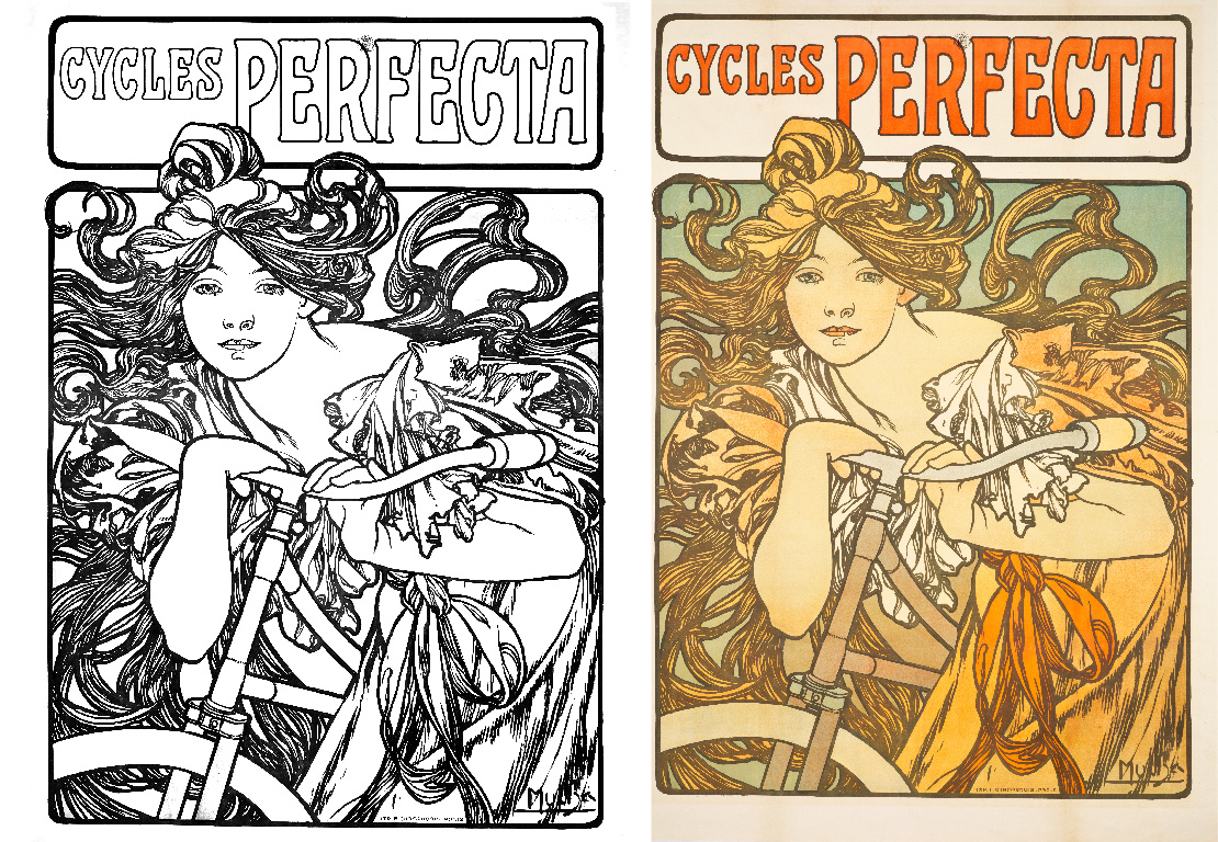 Cycles Perfecta by Alphonse Mucha (Moravia, Ivančice, active France, 1860-1939)