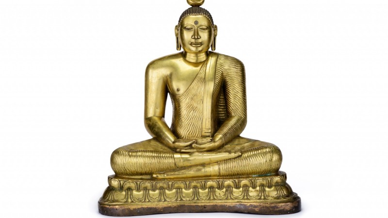 Buddha Shakyamuni, Kandy period, 18th century, Los Angeles County Museum of Art, purchased with funds provided by Murray and Virginia Ward, photo © Museum Associates/LACMA