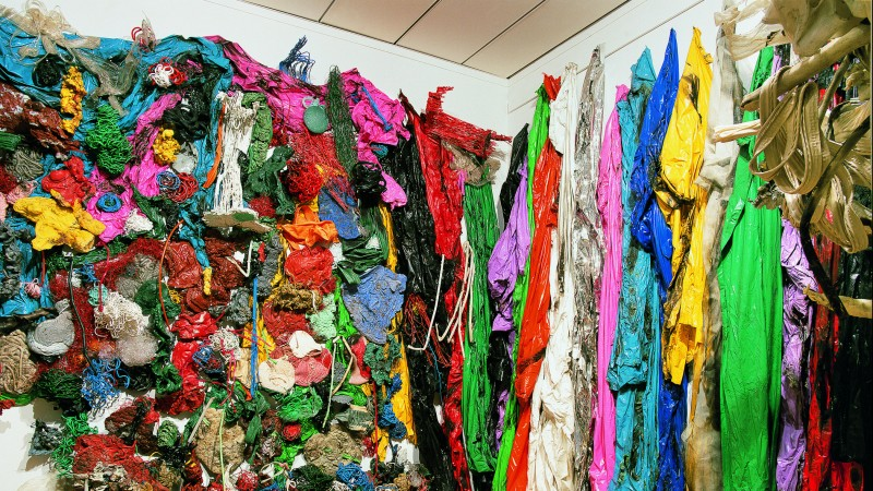 Gu Dexin, Untitled, 1989, Melted and adjoined plastic, Musee d'art contemporain de Lyon,  © Gu Dexin