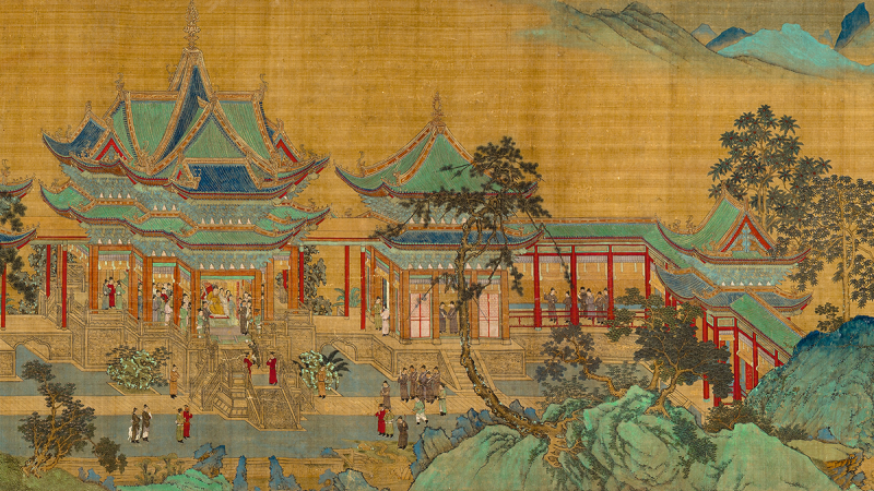 Qiu Ying, The Jiucheng Palace (detail), Ming dynasty, c. 1525–33, Osaka City Museum of Fine Arts, Abe Collection, photo © Osaka City Museum of Fine Arts
