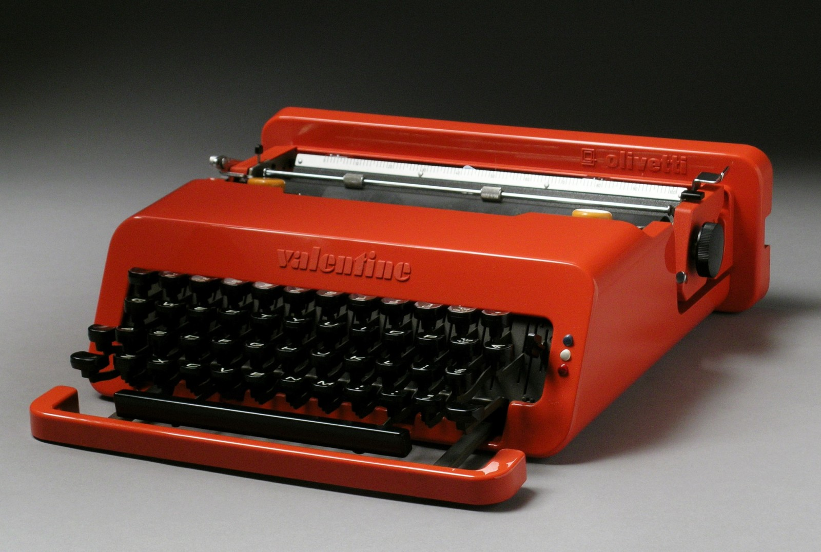 Ettore Sottsass, in collaboration with Perry A King, Valentine portable typewriter