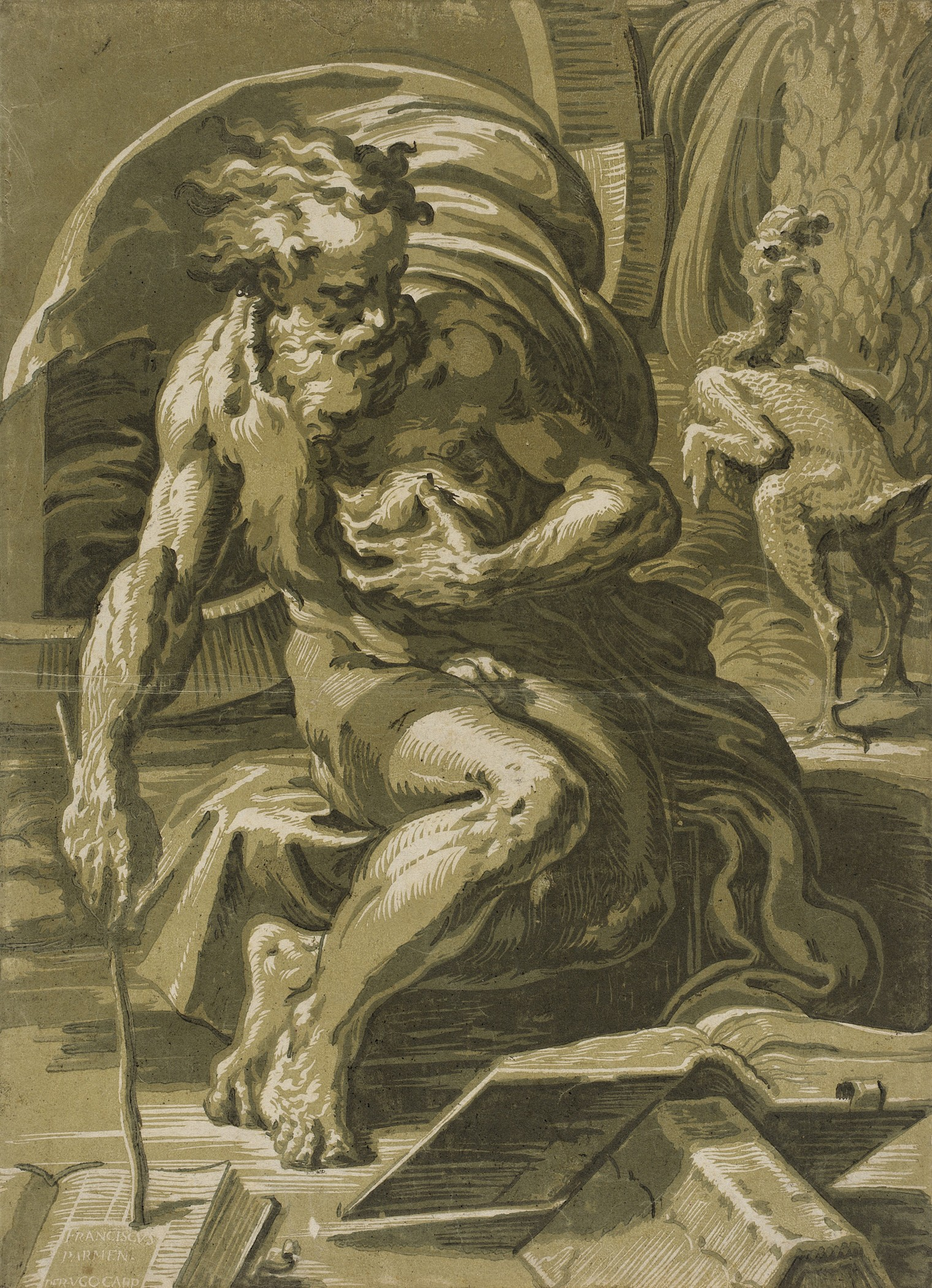 Image: Ugo da Carpi after Francesco Parmigianino, Diogenes, c. 1527