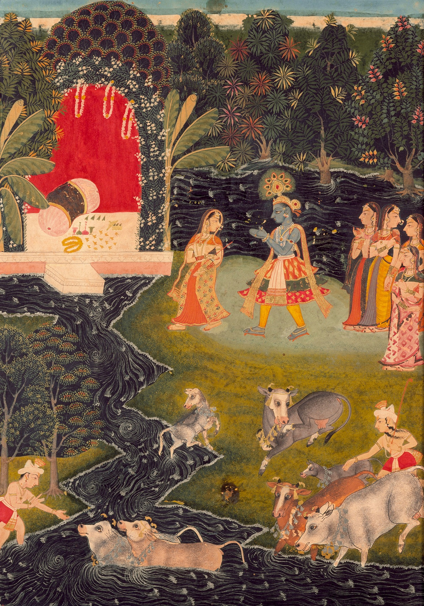 Image: Dalliance in Vrindavan, c. 1725