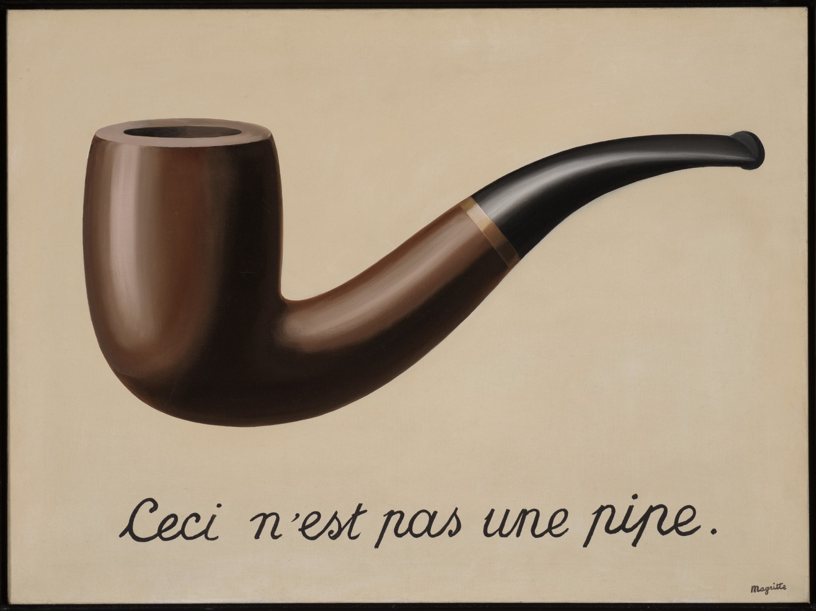 Image: René Magritte, The Treachery of Images (This is Not a Pipe), 1929
