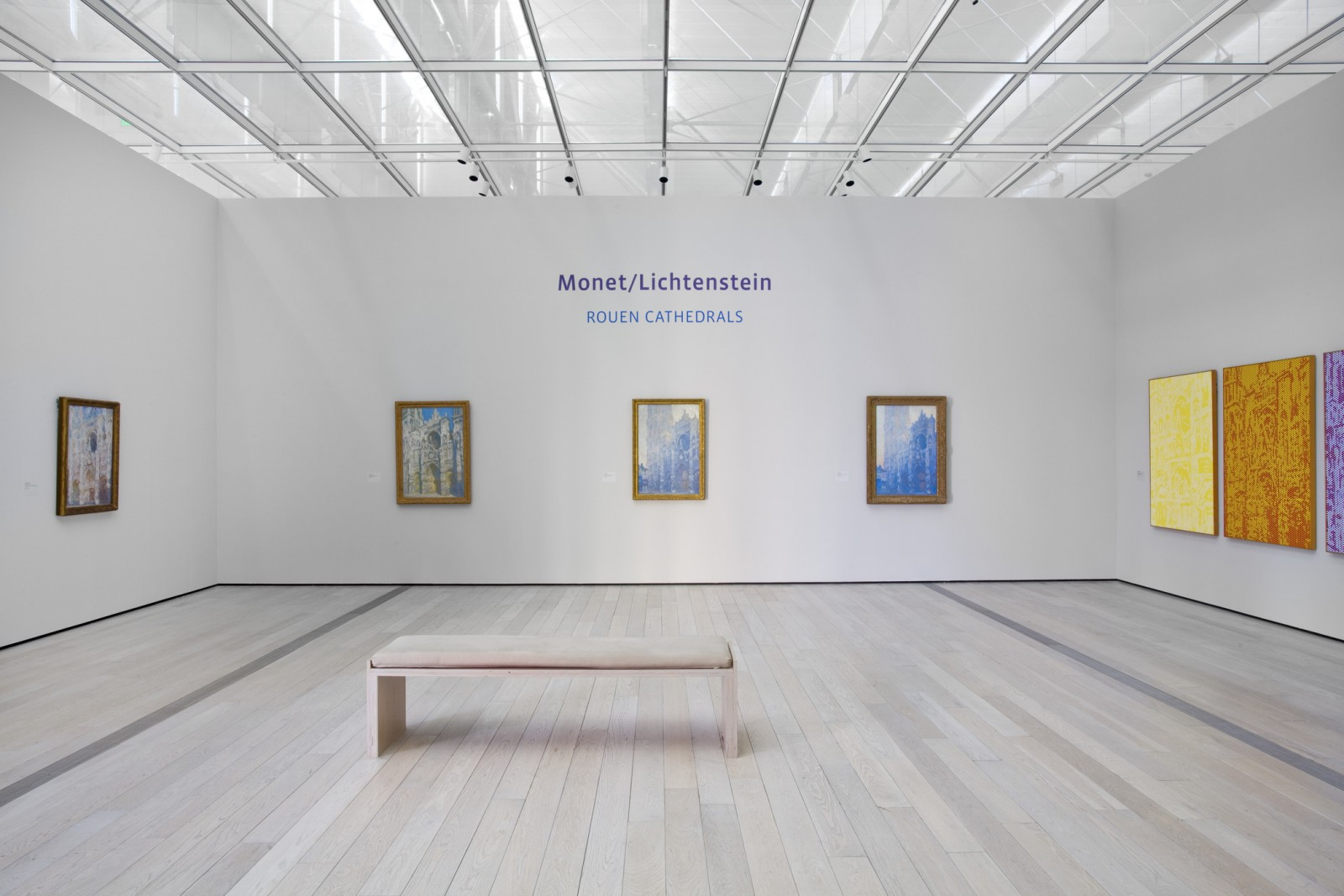 Monet/Lichtenstein: Rouen Cathedrals Install Shot