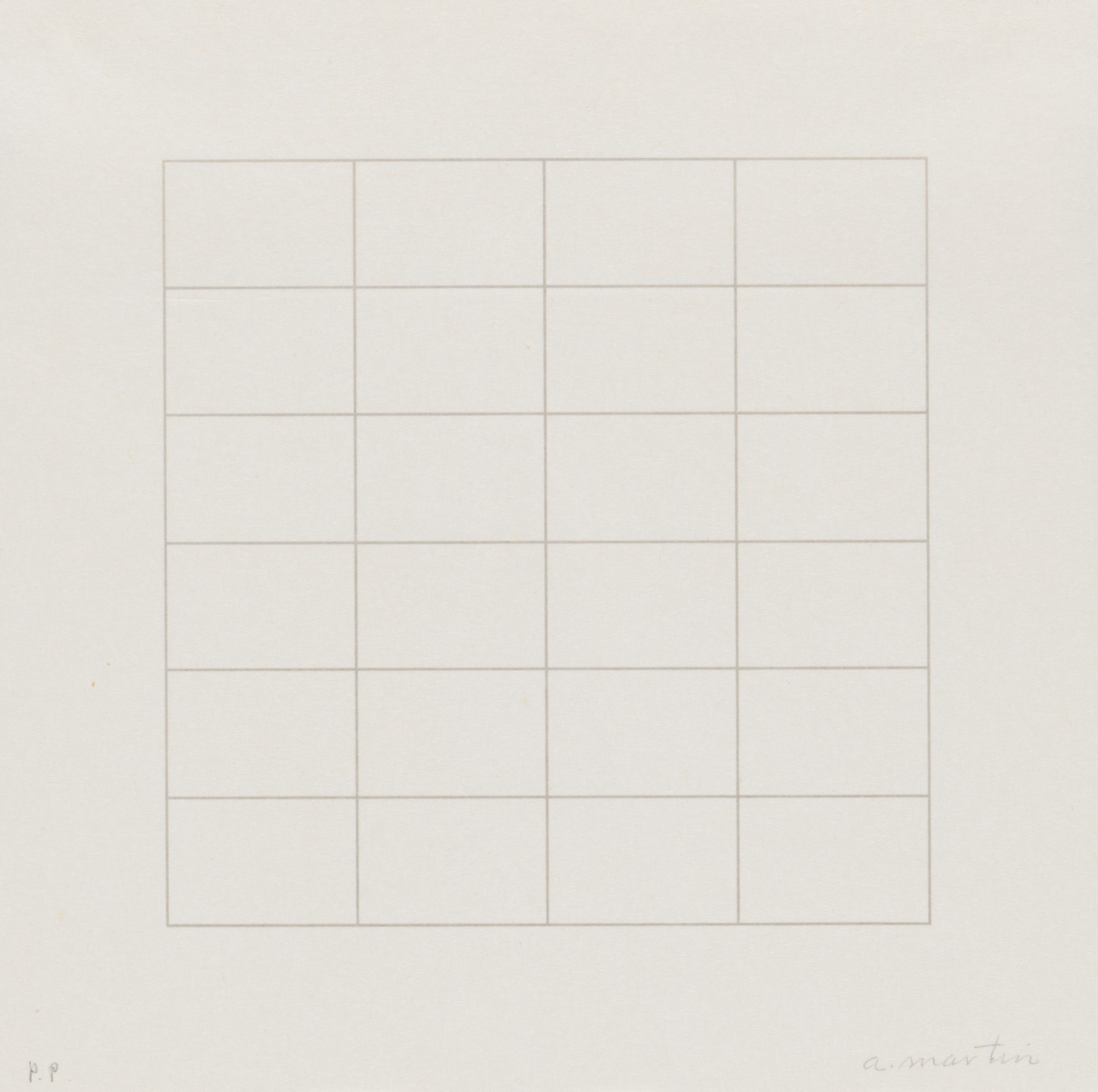 Image: Agnes Martin, Untitled from the portfolio On a Clear Day, 1973