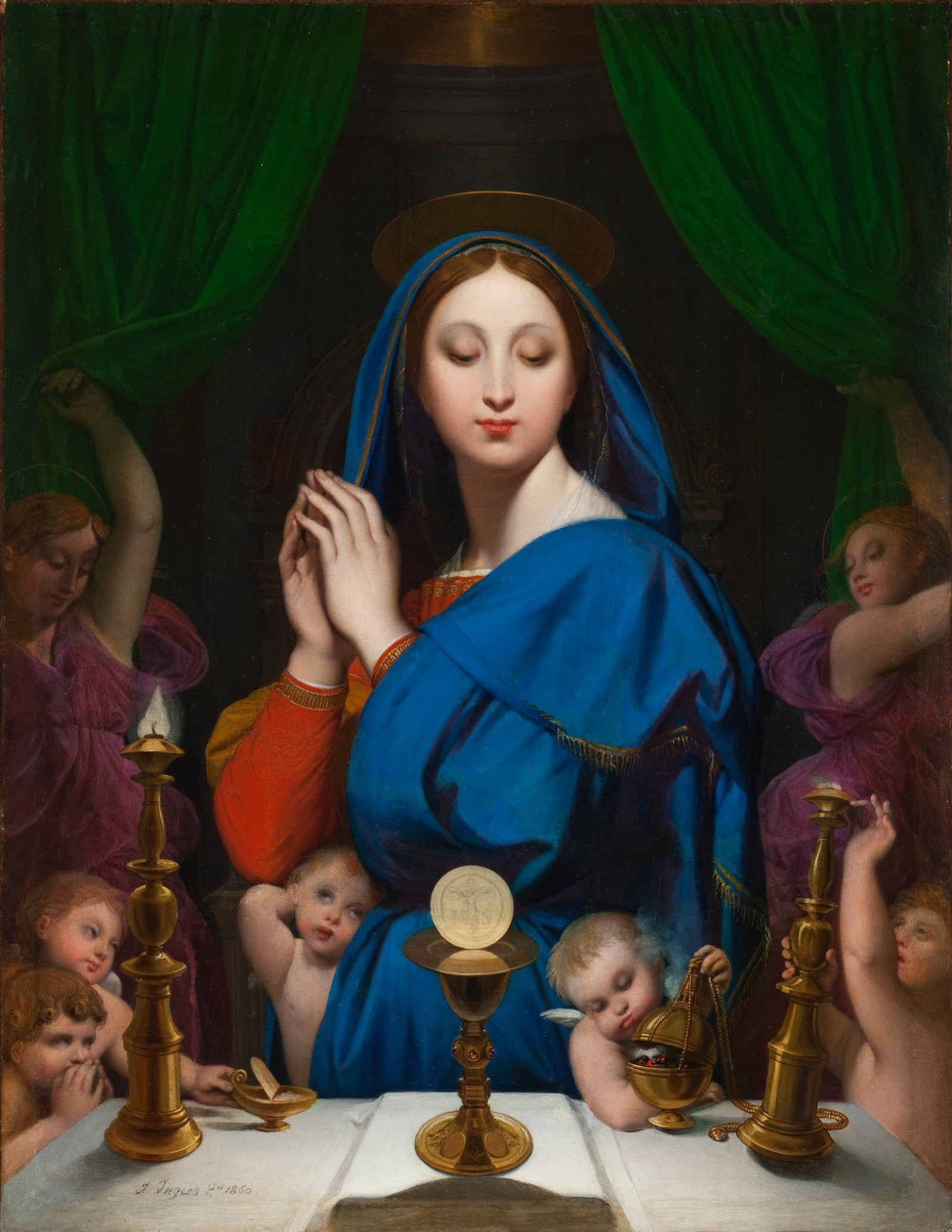 Image: Jean-Auguste-Dominique Ingres, The Virgin with the Host, 1860