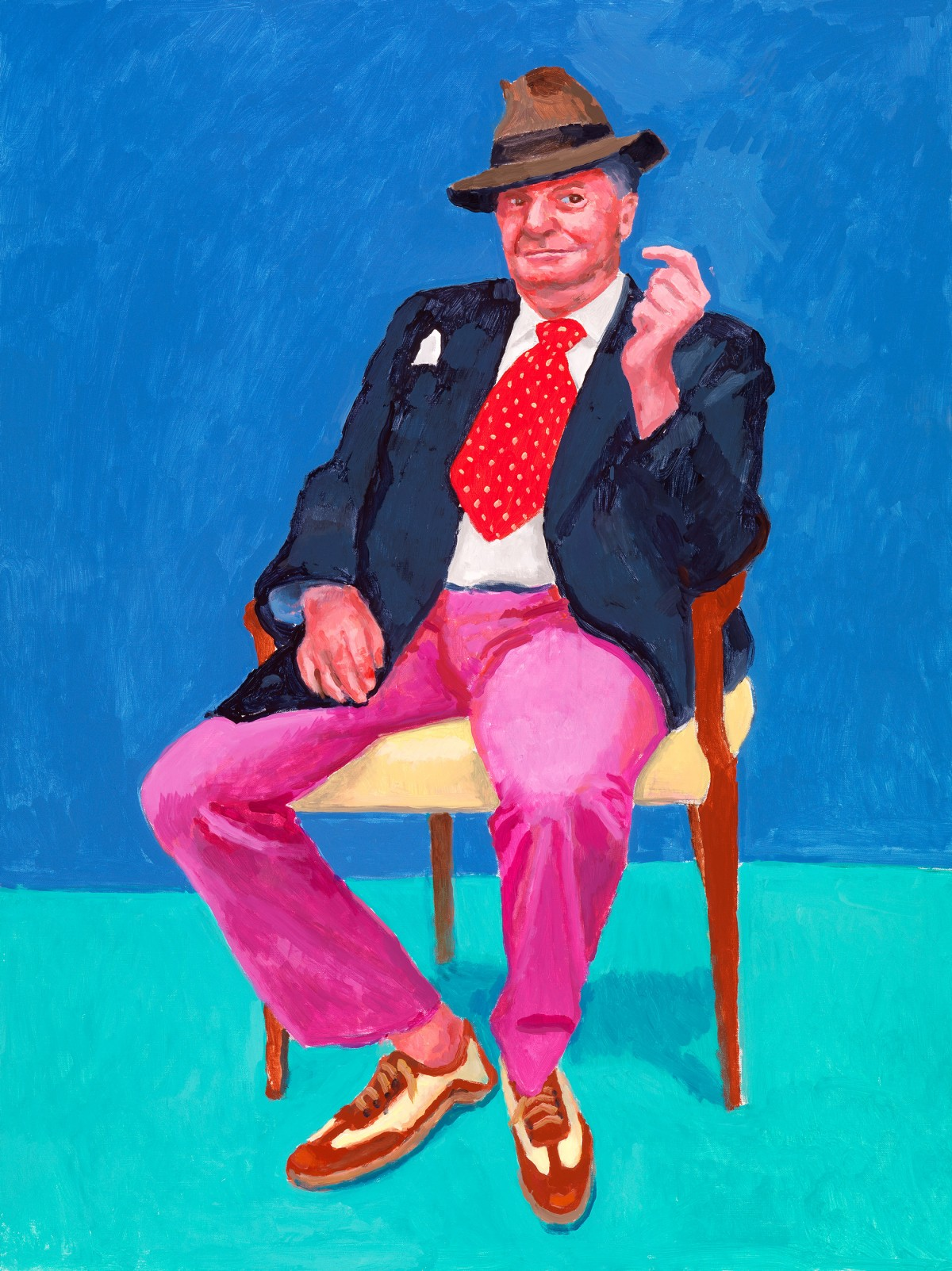 Image: David Hockney, Barry Humphries, 26th, 27th, 28th March 2015 from 82 Portraits and 1 Still-life, 2015