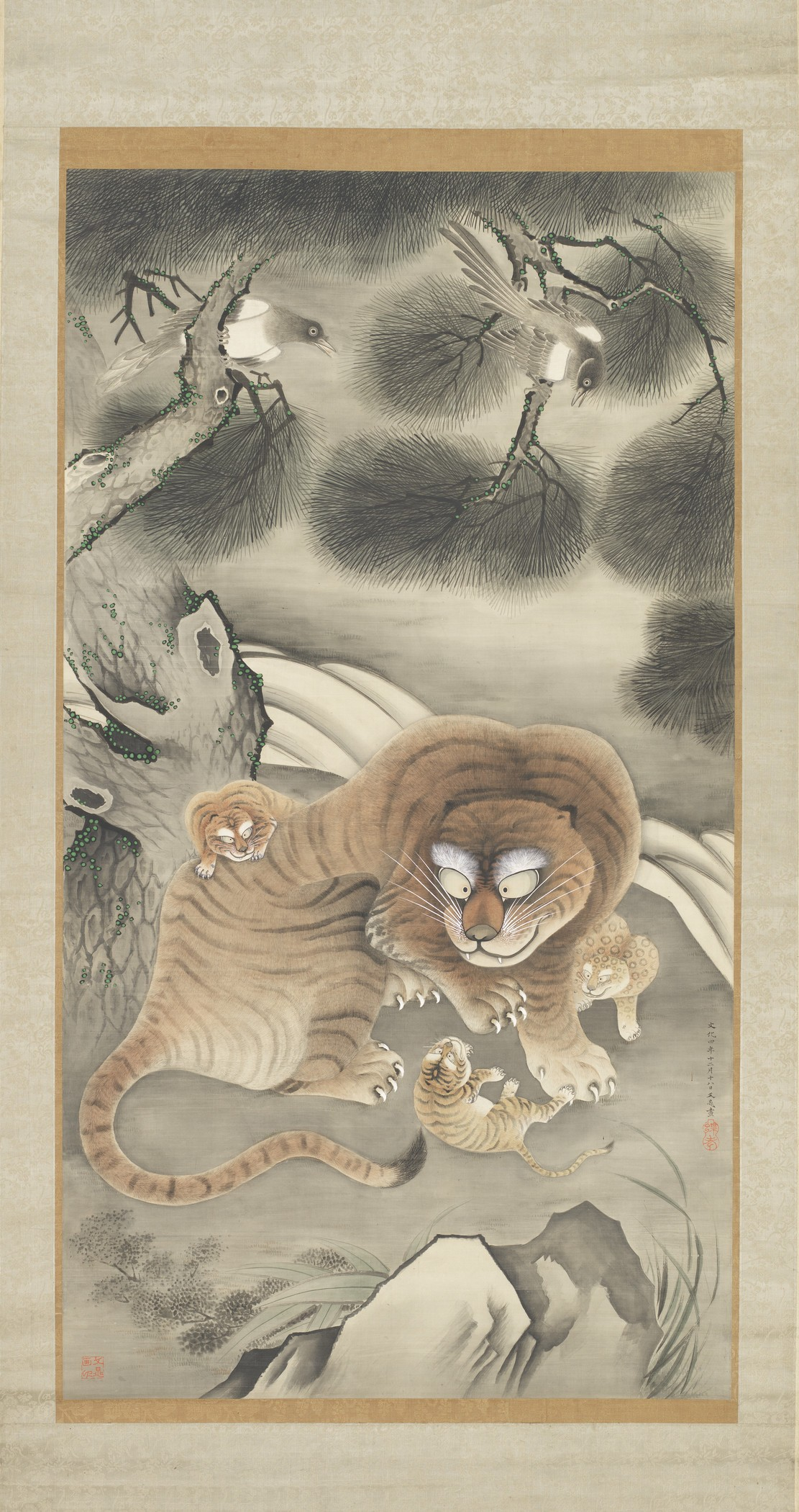 Image: Tani Bunchō, Japan, 1763-1840, Tiger Family and Magpies, 1807 (Bunka 4, 12th month, 18th day)