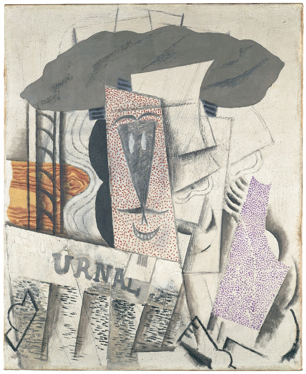 Image: Pablo Picasso, Student with Newspaper(L'etudiant au journal), 1913–14
