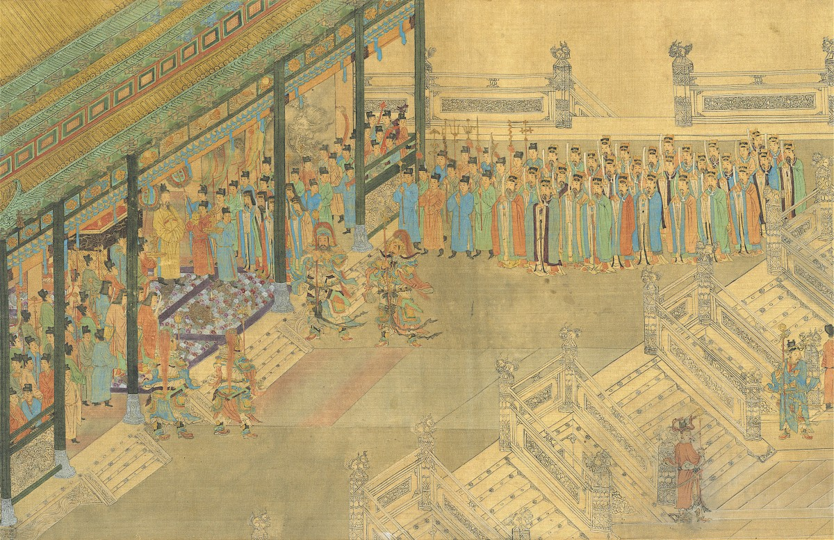 Image: Qiu Ying (c. 1494–c. 1552), Viewing the Pass List (detail)
