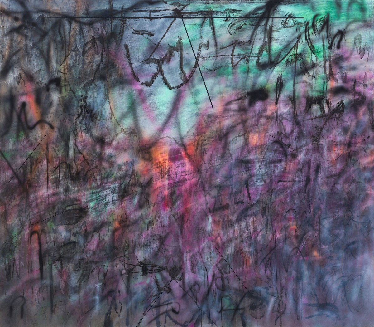 Image: Julie Mehretu, Conjured Parts (eye). Ferguson, 2016