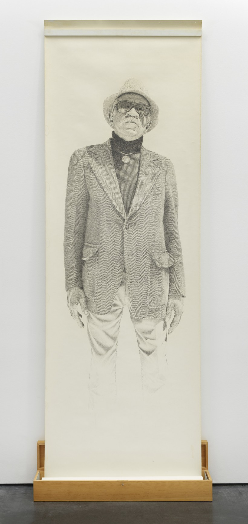 Image: Kent Twitchell, Portrait of Charles White, 1977
