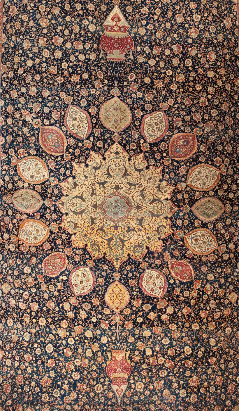 Image: Maqsud Kashani, Ardabil Carpet (detail), dated 1539-40 (A.H. 946)