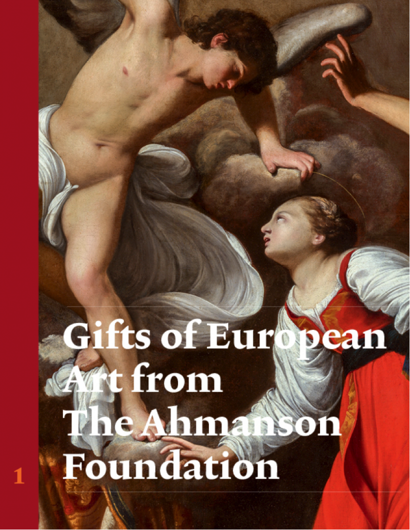 Publication Cover: Gifts of European Art from the Ahmanson Foundation: Italian Painting and Sculpture, Vol. 1