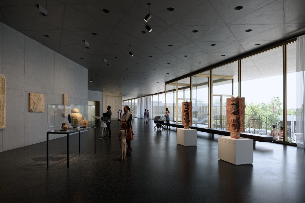 Terrace and north entrance galleries, exhibition level, Atelier Peter Zumthor & Partner/The Boundary