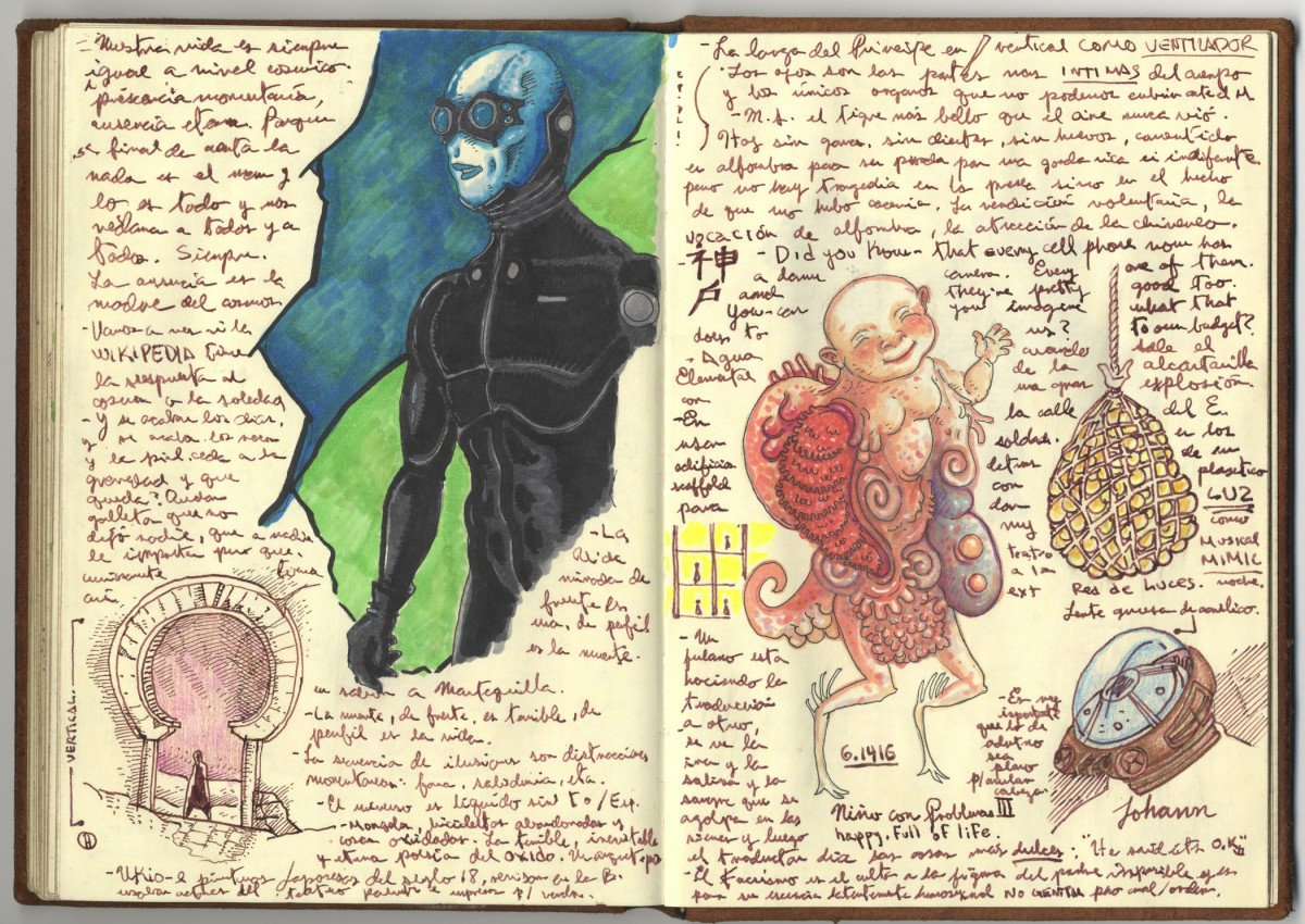 Guillermo del Toro, Page from Notebook 4