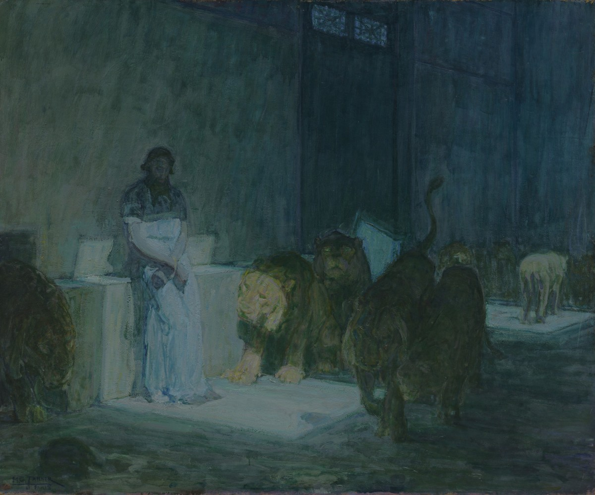Image: Henry Ossawa Tanner, Daniel in the Lions' Den, 1907-1918