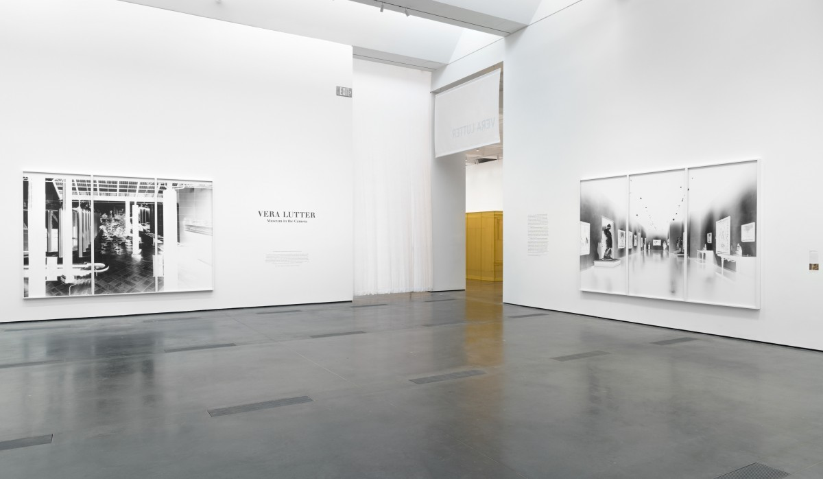 Installation photograph, Vera Lutter: Museum in the Camera, Los Angeles County Museum of Art, 2020, art © Vera Lutter, photo © Museum Associates/LACMA