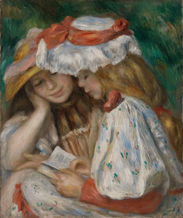 Image: Two Girls Reading Pierre-Auguste Renoir (France, Limoges, 1841-1919)