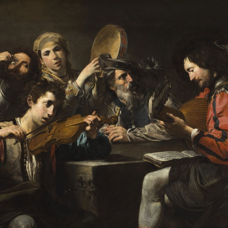 A Musical Party Valentin de Boulogne (France, Coulommiers, 1591-1632)