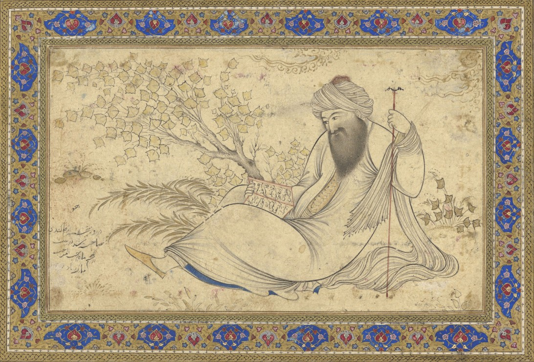 Image: Bearded Man Reading in a Landscape