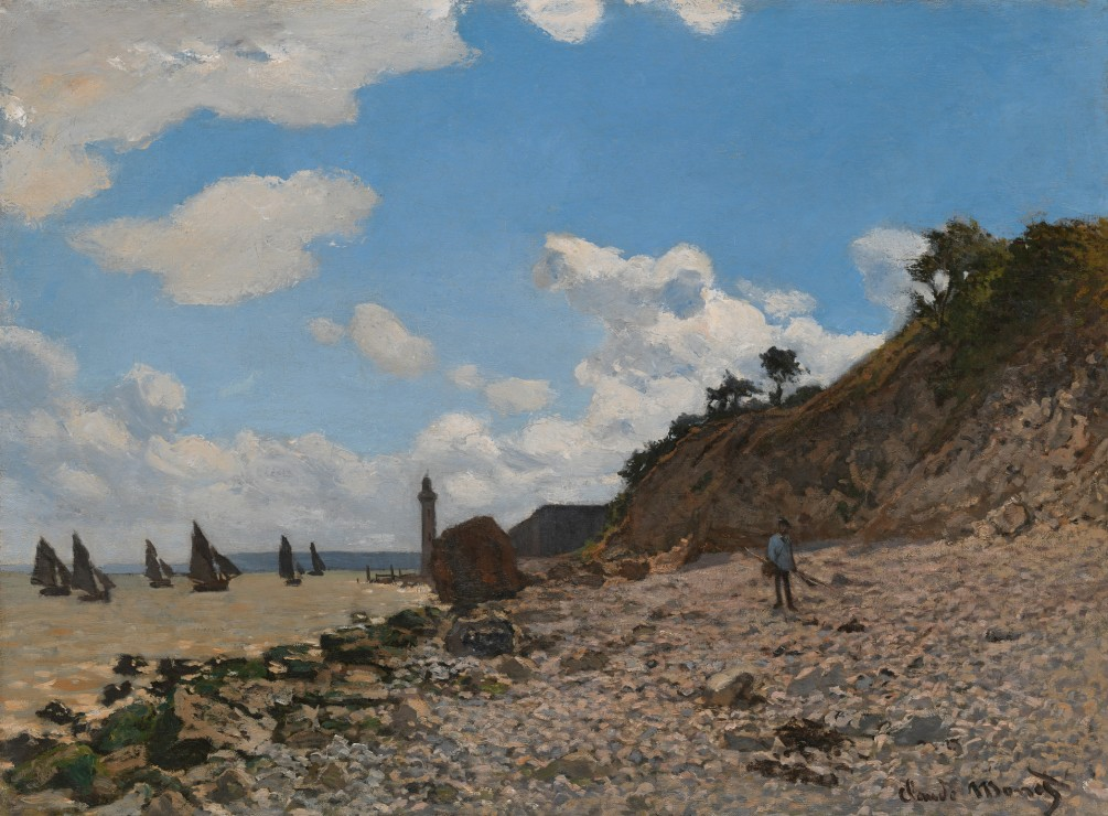 Image: The Beach at Honfleur Claude Monet (France, Paris, 1840-1926)